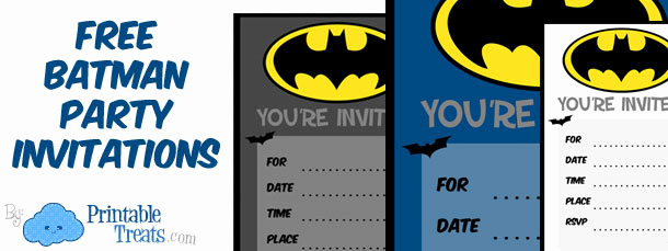 Batman Birthday Invitation Templates New Batman Birthday Invitations to Print — Printable Treats