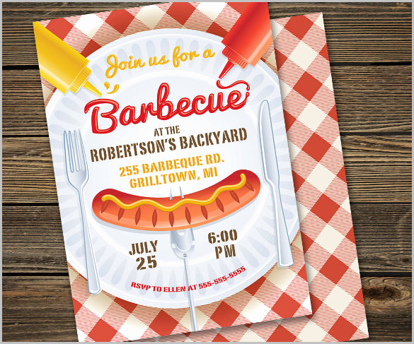 Bbq Invitation Template Word Best Of 52 Bbq Invitation Templates Psd Vector Eps Ai