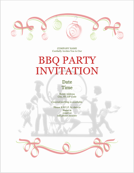 Bbq Invitation Template Word Best Of Bbq Barbeque Party Invitation Templates Templates Bash