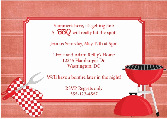 Bbq Invitation Template Word Best Of Bbq Invitation Barbeque Invite Diy Printable by