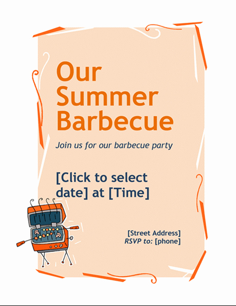 Bbq Invitation Template Word Best Of Flyers Fice