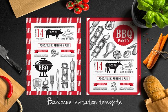 Bbq Invitation Template Word Elegant Barbecue Invitation Template Brochure Templates On