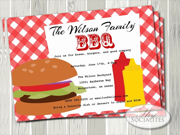 Bbq Invitation Template Word Lovely 19 Bbq Invitation Templates Psd Vector Eps