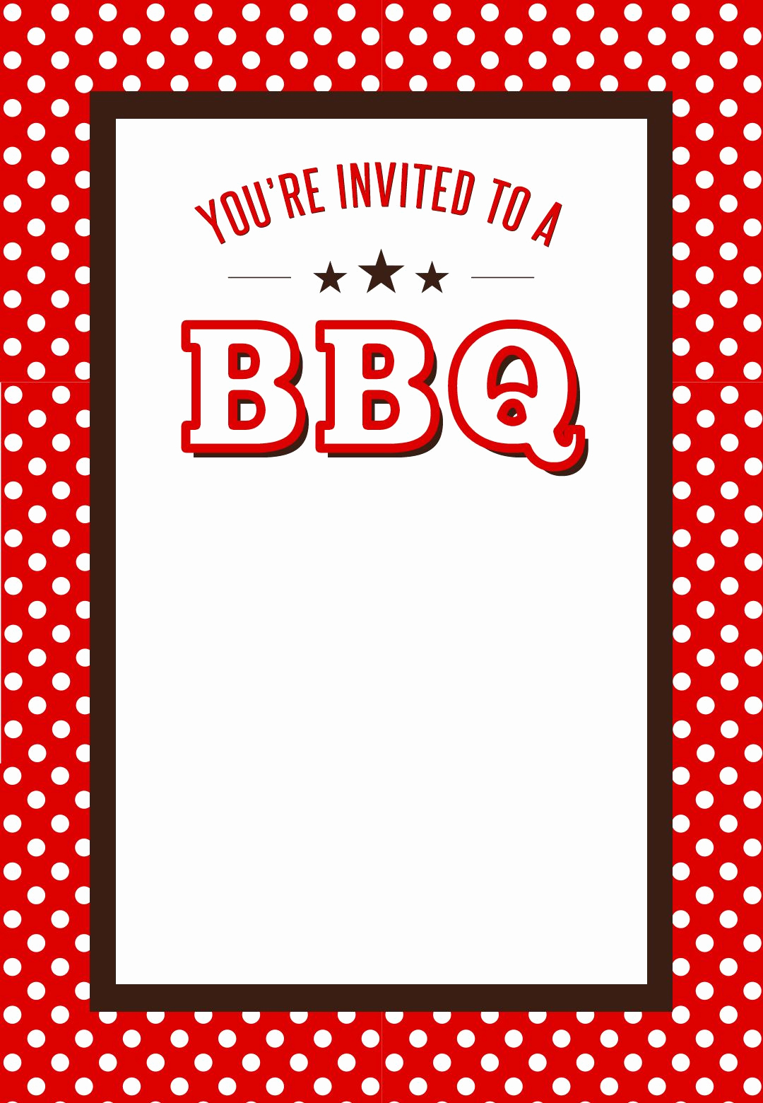 Bbq Invitation Template Word Lovely Bbq Party Invitation Free Printables