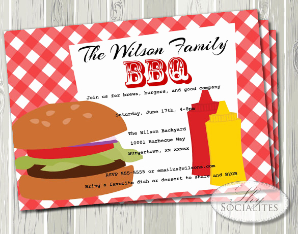 Bbq Invitation Template Word New 32 Barbeque Invitation Templates Psd Word Ai