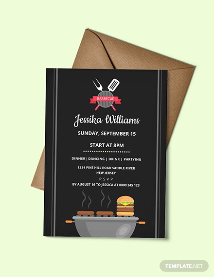 Bbq Invitation Template Word New 52 Bbq Invitation Templates Psd Vector Eps Ai