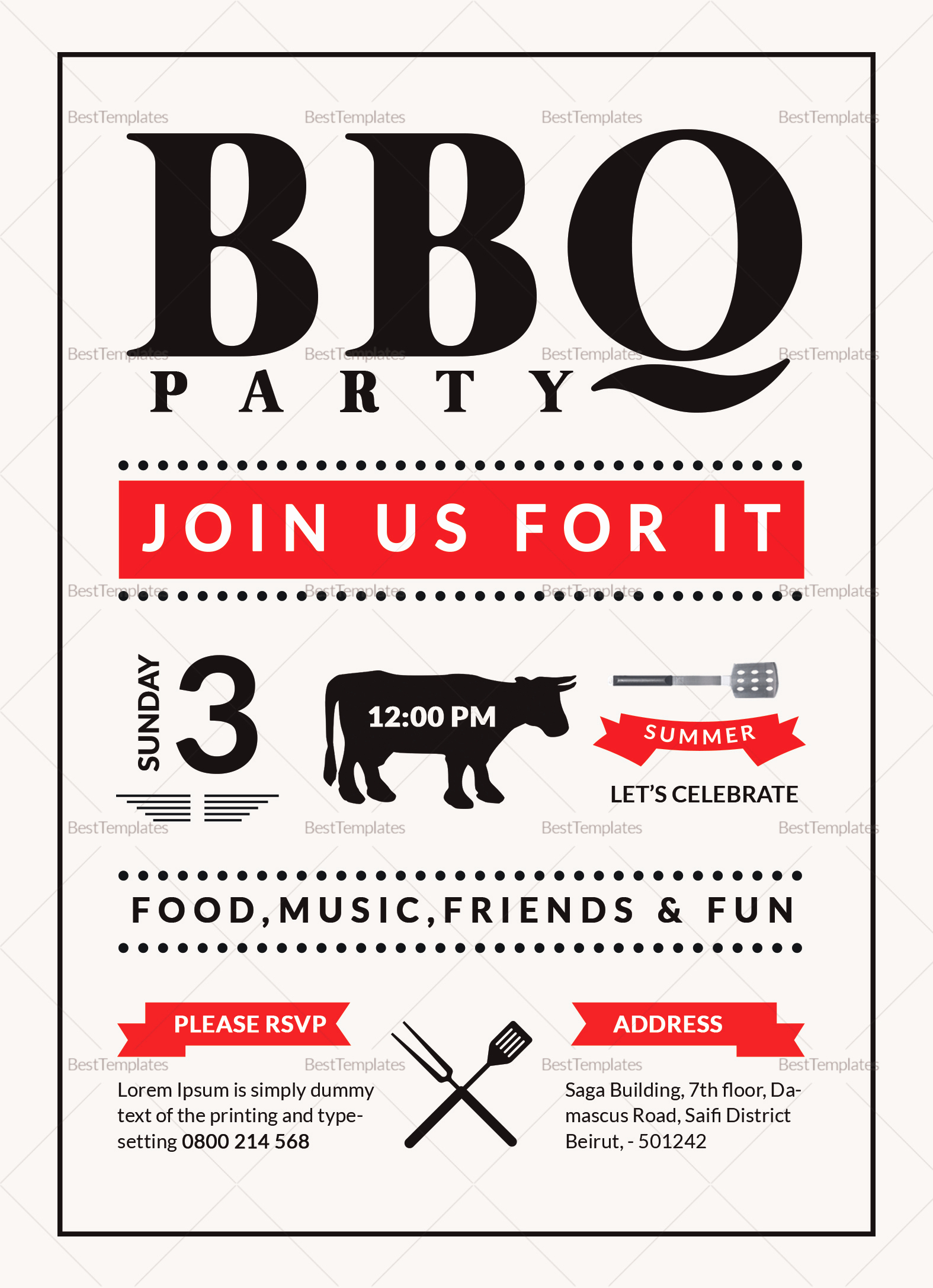 Bbq Invitation Template Word New Barbecue Party Invitation Design Template In Word Psd