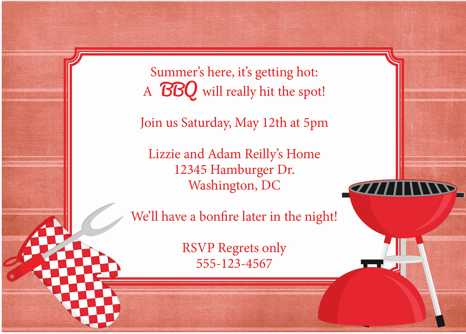 Bbq Invitation Template Word New Bbq Invitation Barbeque Invite Diy Printable by