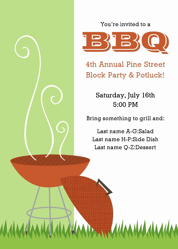 Bbq Invitation Template Word New Invitation Printable Gallery Category Page 14