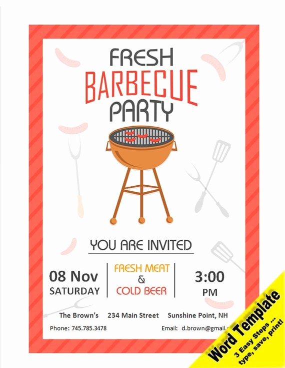 Bbq Invitation Template Word Unique 34 Best Etsy Word and Pdf Templates Images On Pinterest