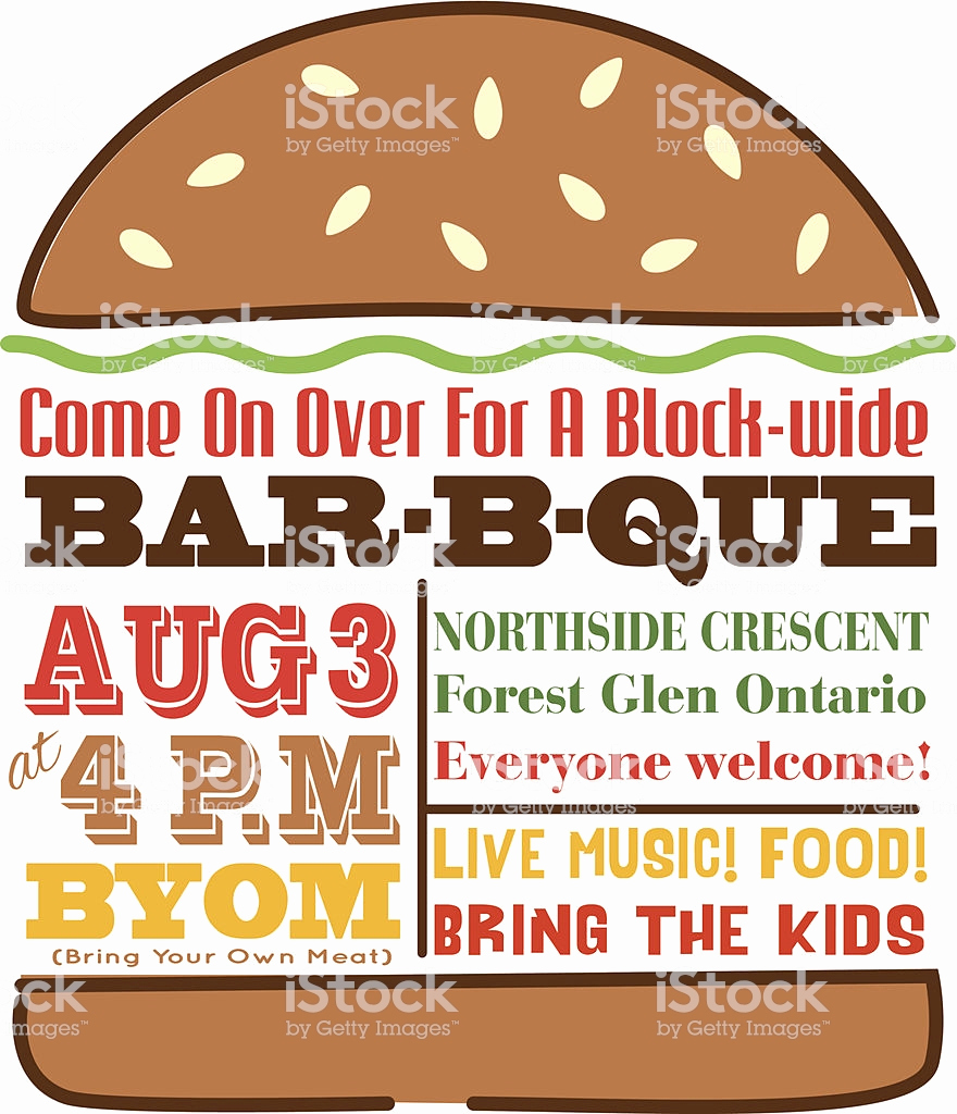 Bbq Invitation Template Word Unique Hamburger Bbq Invitation Template Stock Illustration