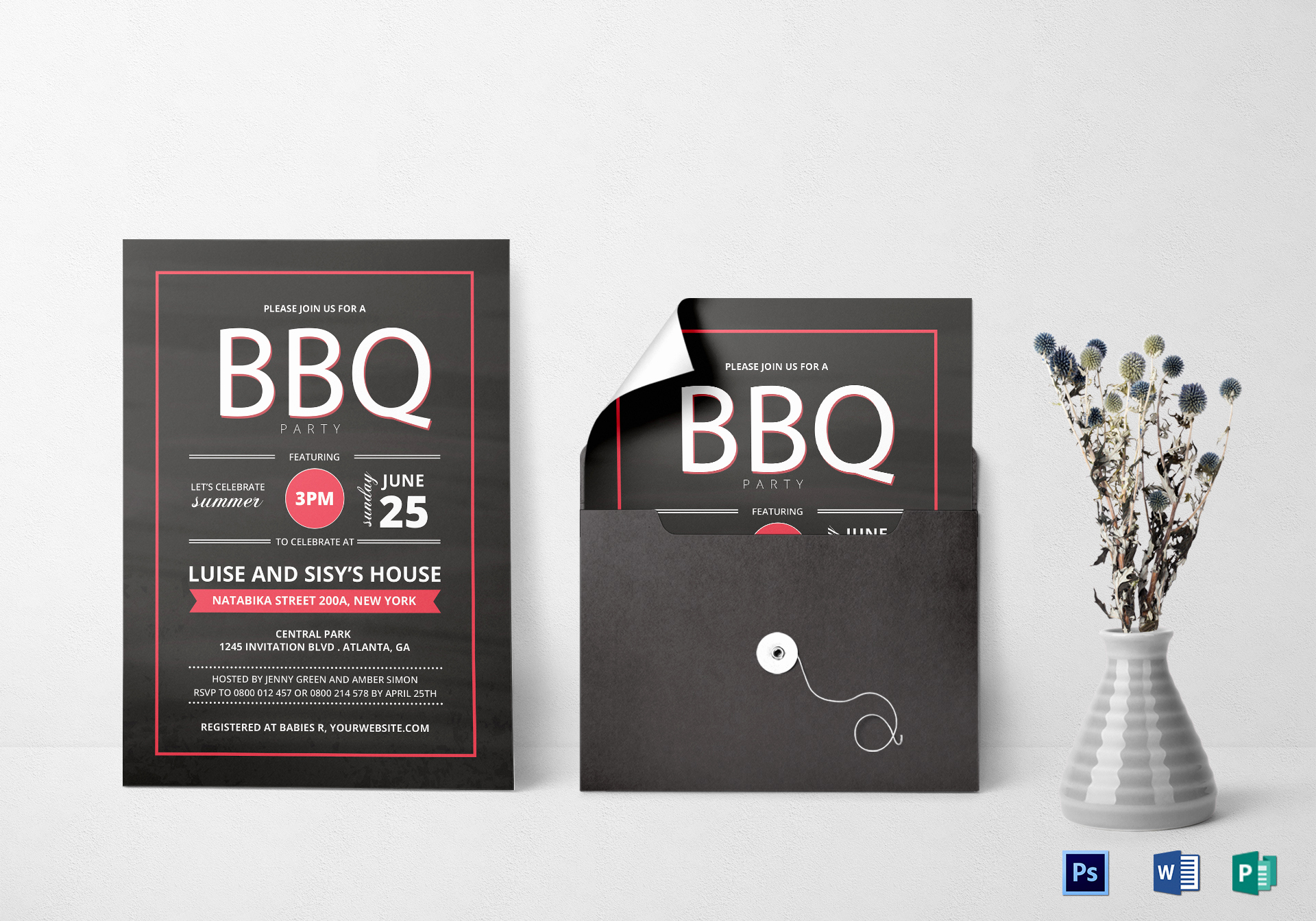 Bbq Invitation Template Word Unique Summer Bbq Invitation Design Template In Word Psd Publisher
