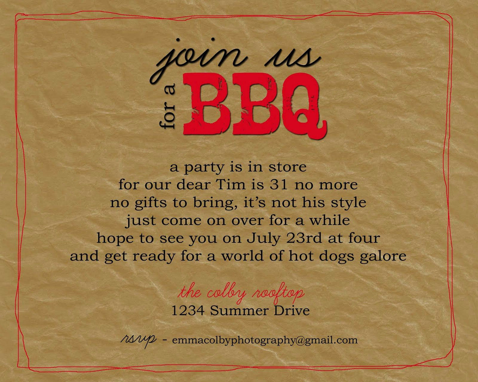 Bbq Invitation Wording Funny Awesome Bbq Party Invitation Wording Bbq