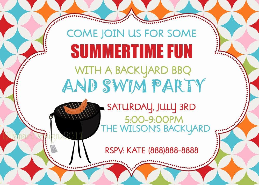 Bbq Invitation Wording Funny Beautiful Barbecue Invitation Backyard Bbq Summer Party Invitation