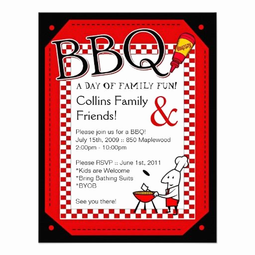 Bbq Invitation Wording Funny Elegant Backyard Bbq Party Invitation Zazzle