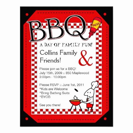 Bbq Invitation Wording Funny Elegant Backyard Bbq Party Invitation Zazzle
