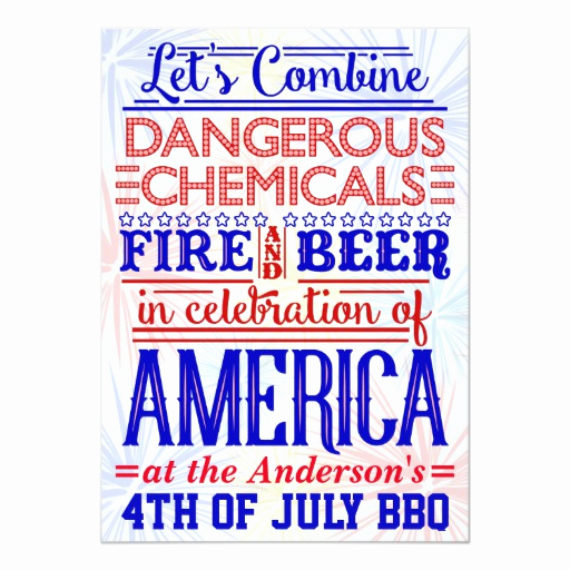 Bbq Invitation Wording Funny Elegant Funny 4th Of July Bbq Party Humorous Barbecue Card