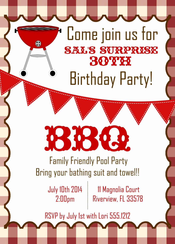 Bbq Invitation Wording Funny Fresh Bbq Birthday Invitations