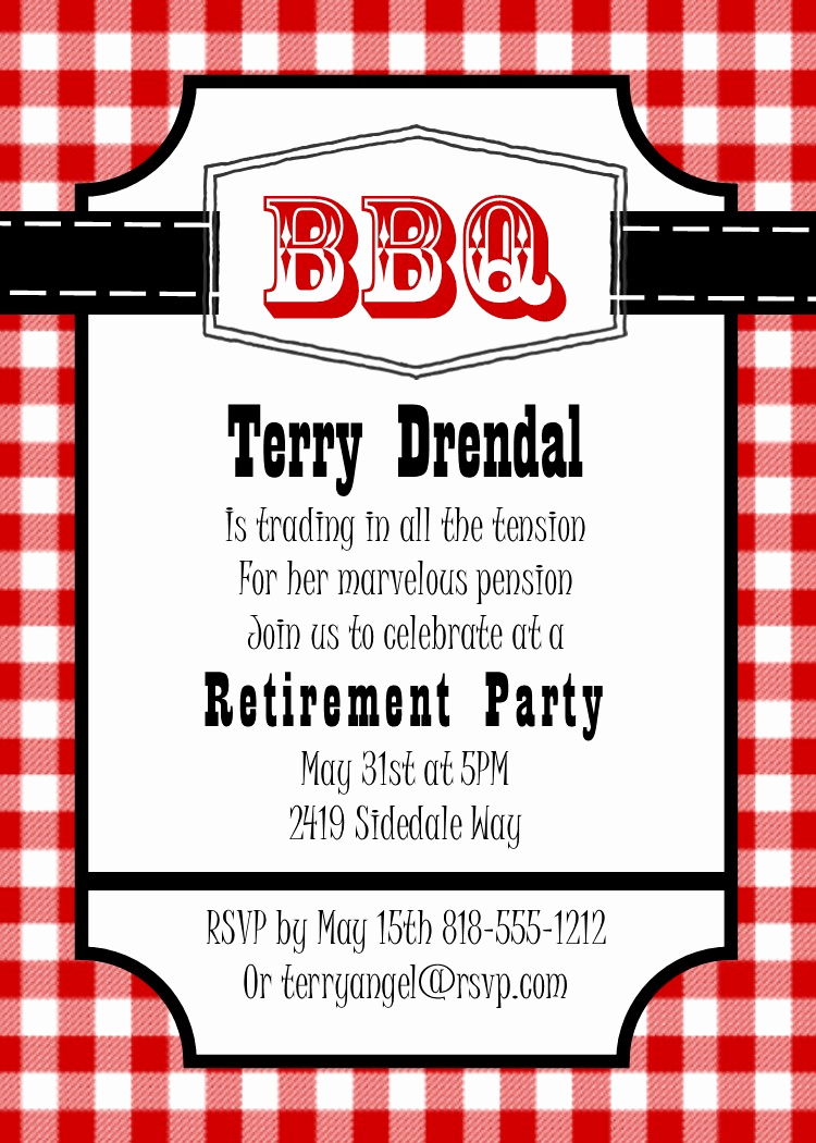 Bbq Invitation Wording Funny Fresh Retirement Party Invitations Custom Designed New for