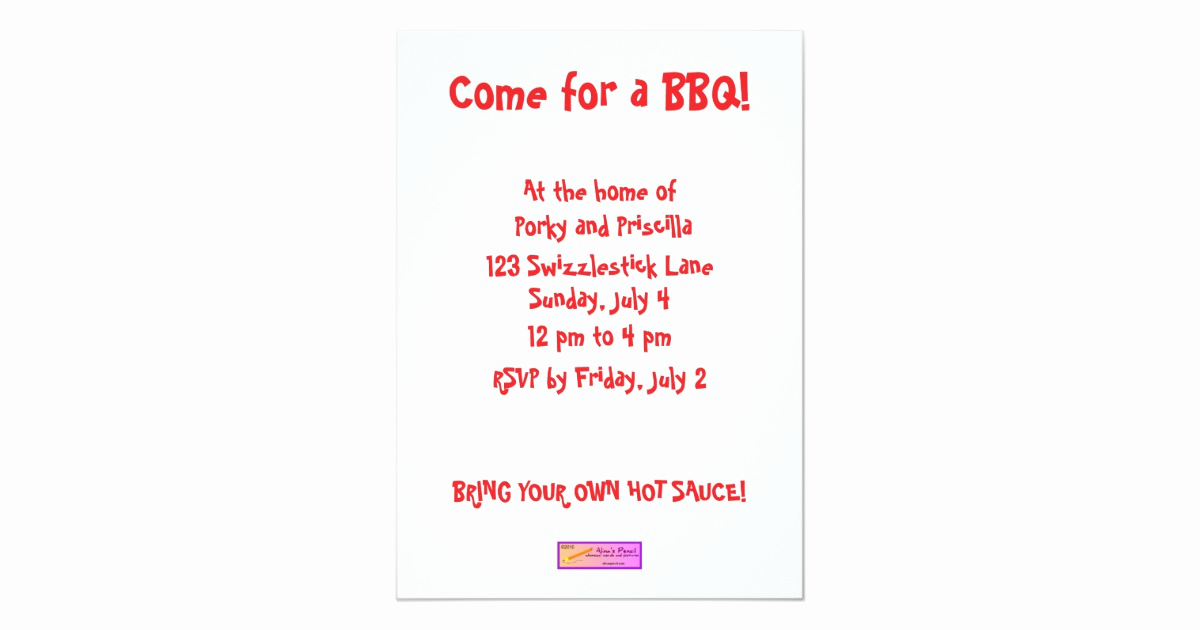 Bbq Invitation Wording Funny Fresh Scared Cartoon Pig Funny Bbq Party Invitations