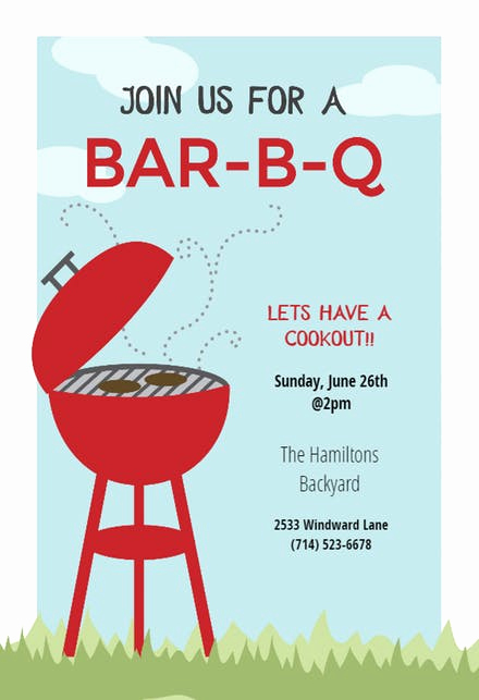 Bbq Invitation Wording Funny New Bbq Party Invitation & Flyer Templates Free