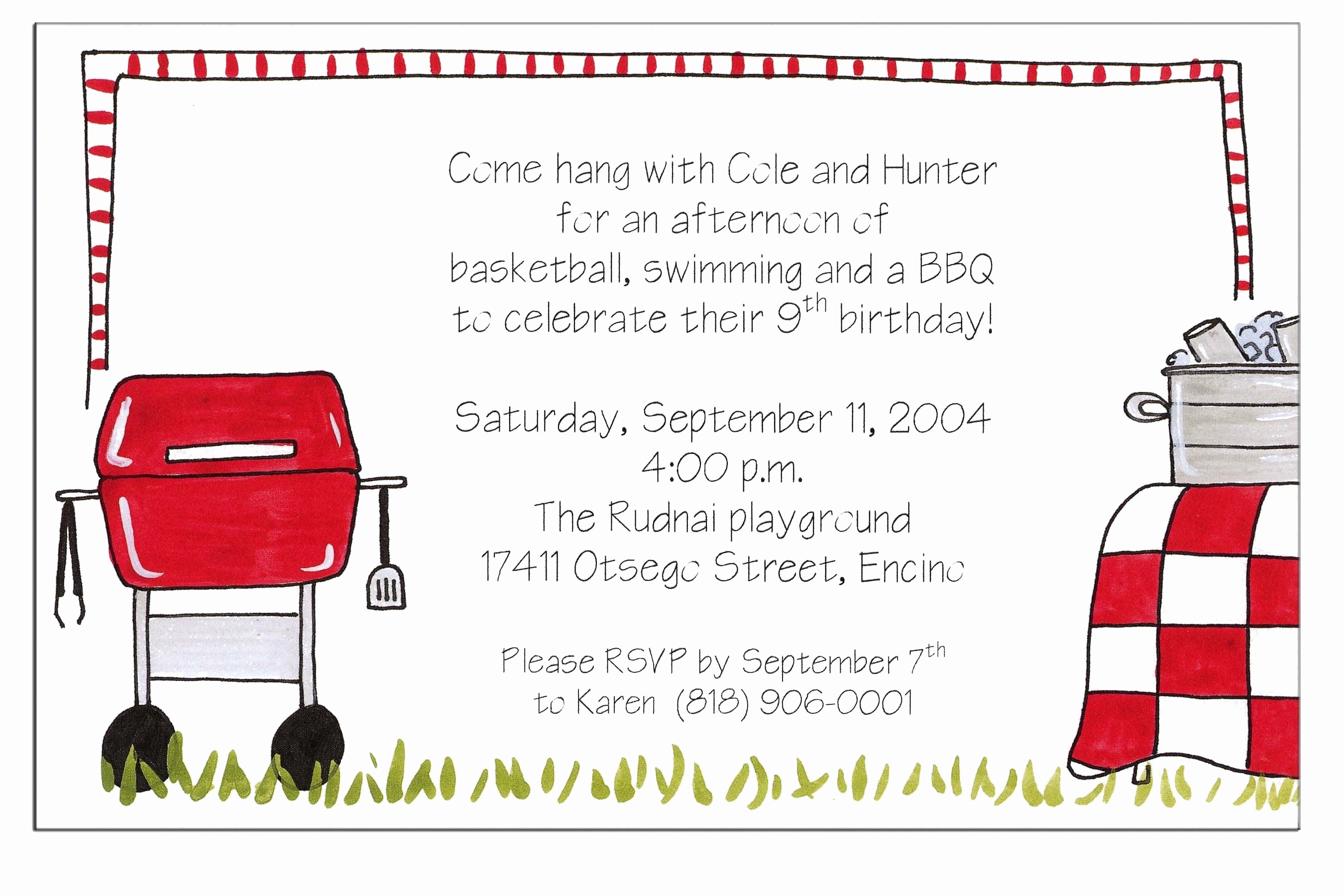 Bbq Invitation Wording Funny Unique Christmas Bbq Party Invitations