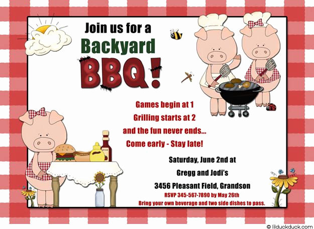 Bbq Invitation Wording Funny Unique Funny Bbq Party Invitation Wording