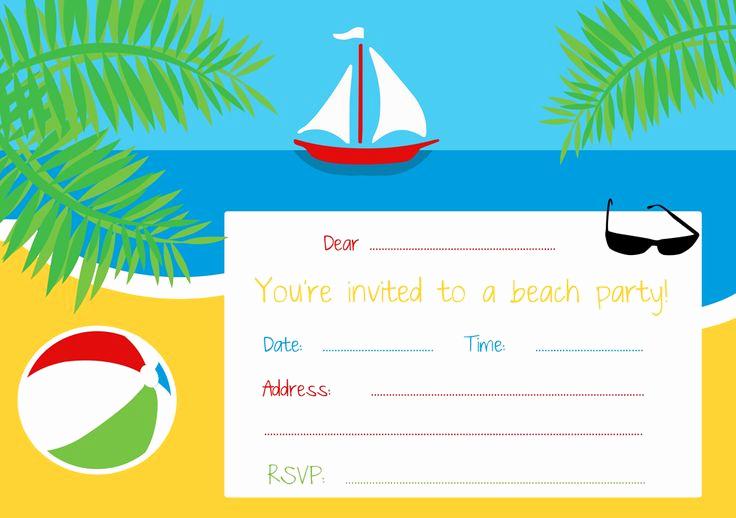 Beach Party Invitation Ideas Beautiful 25 Unique Beach Party Invitations Ideas On Pinterest