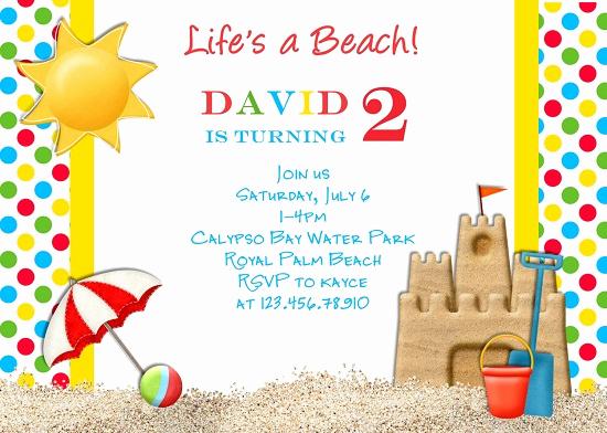 Beach Party Invitation Ideas Best Of Beach Birthday Invitations Ideas – Bagvania Free Printable