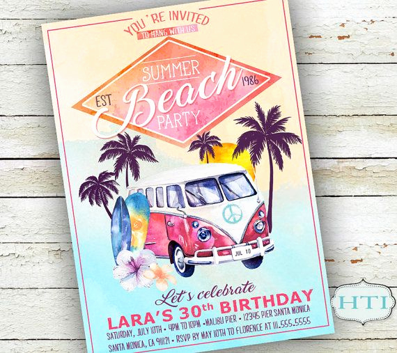 Beach Party Invitation Ideas Inspirational Best 25 Beach Party Invitations Ideas On Pinterest