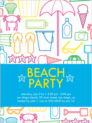 Beach Party Invitation Ideas Inspirational Summer Party themes and Ideas