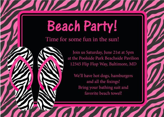 Beach Party Invitation Ideas New Best 25 Beach Party Invitations Ideas On Pinterest