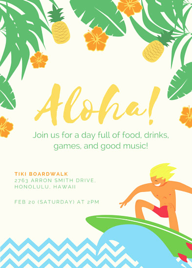 Beach Party Invitation Template Beautiful Customize 3 999 Party Invitation Templates Online Canva