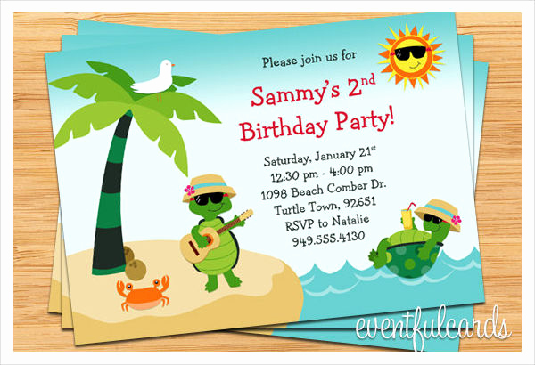 Beach Party Invitation Template Beautiful Party Invitation Templates