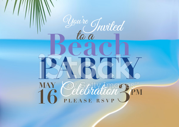 Beach Party Invitation Template Best Of Party Invitation Templates