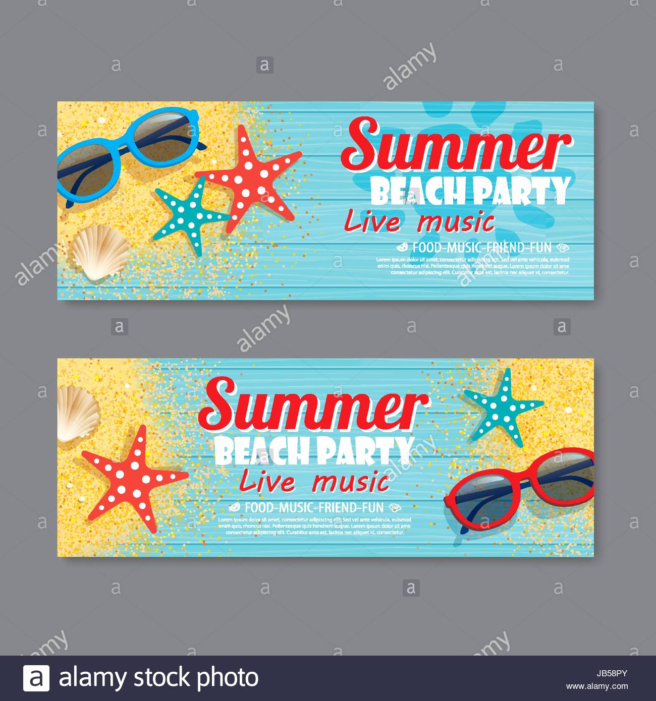 Beach Party Invitation Template Elegant Summer Beach Party Invitation Ticket Template Background
