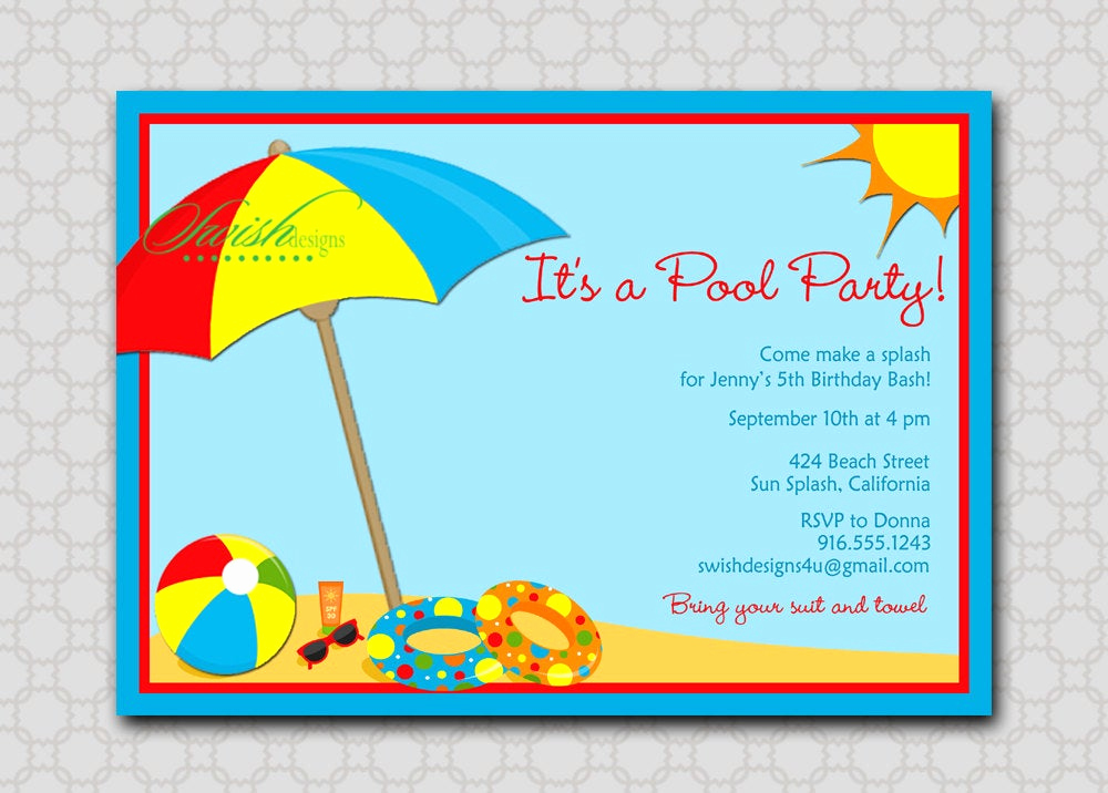Beach Party Invitation Template Fresh Beach Party Invitation Bbq End Of the Summer Splash