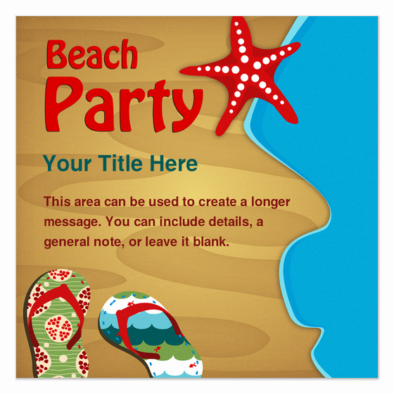 Beach Party Invitation Template Inspirational Beach Party Invitations & Cards On Pingg