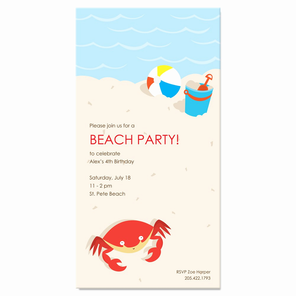 Beach Party Invitation Template Inspirational Free Beach Party Invitations Beach Party Invitations to