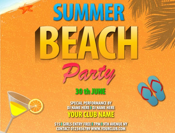 Beach Party Invitation Template Inspirational Party Invitation Templates