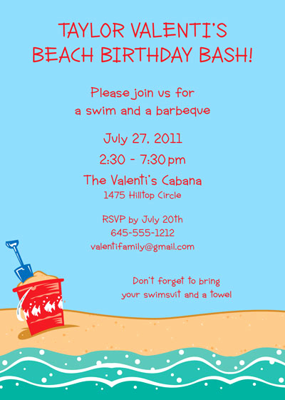 Beach Party Invitation Template Lovely Summer