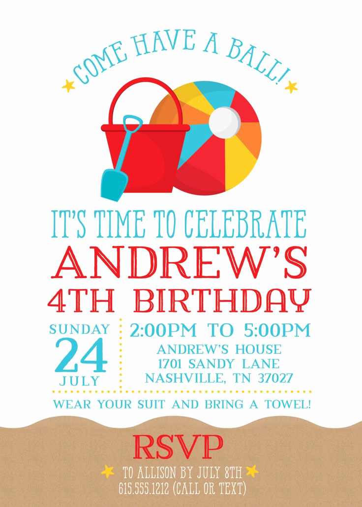 Beach Party Invitation Template New Best 25 Beach Party Invitations Ideas On Pinterest
