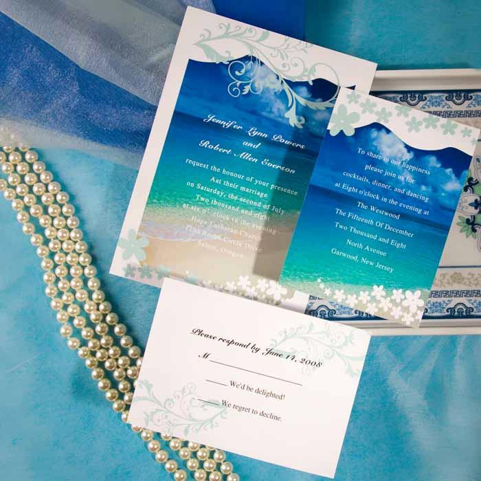 Beach Wedding Invitation Ideas Awesome Modern Seaside Summer Beach Wedding Invitations Ewi038 as