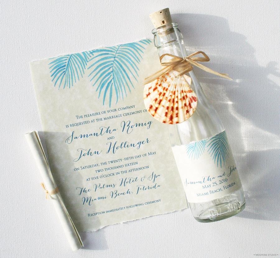 Beach Wedding Invitation Ideas Best Of 21 Bottle Beach Wedding Invitation Ideas