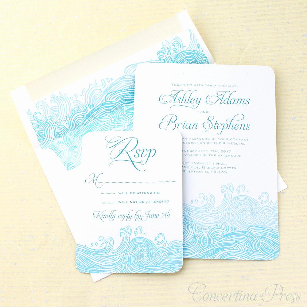 Beach Wedding Invitation Ideas Lovely Concertina Press Stationery and Invitations 9 Beautiful