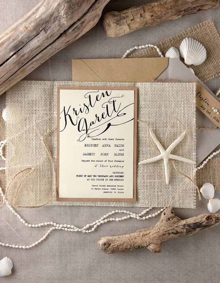Beach Wedding Invitation Ideas Lovely Rustic Beach themed Wedding Invitations From