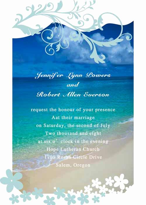 Beach Wedding Invitation Ideas Unique Modern Seaside Summer Beach Wedding Invitations Ewi038 as