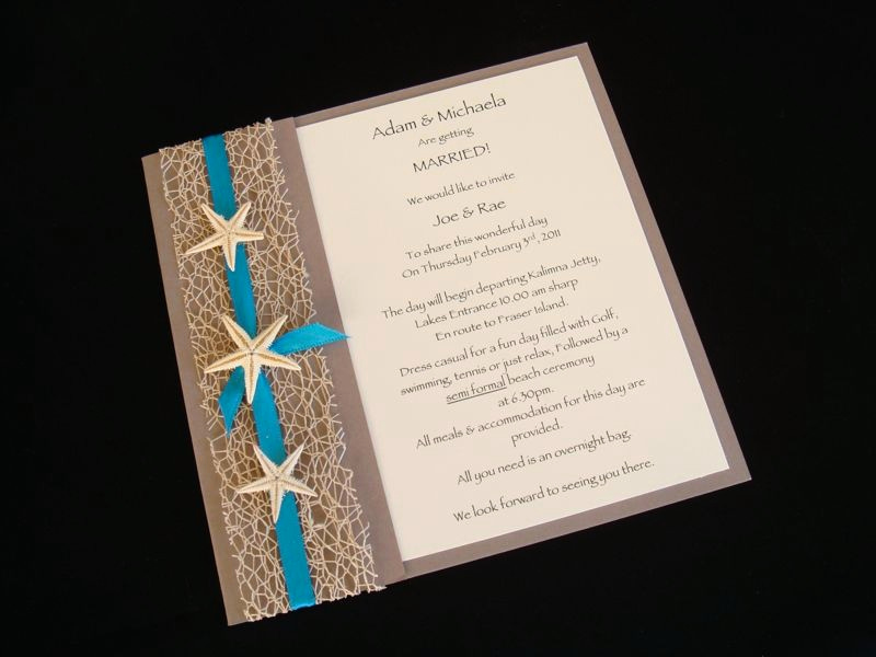 Beach Wedding Invitation Ideas Unique Urban Starfish Teal Beach Wedding Invitation Sample