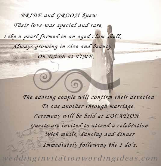 Beach Wedding Invitation Wording Awesome Free Beach Wedding Invitation Wordings Samples