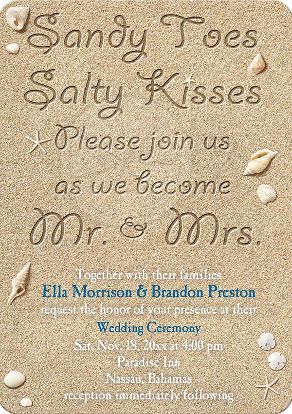 Beach Wedding Invitation Wording Beautiful Best 25 Beach Wedding Invitations Ideas On Pinterest